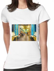 Subway carriage in Milano, Italy Womens Fitted T-Shirt