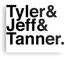 Tyler & Jeff & Tanner Metal Print