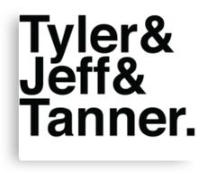 Tyler & Jeff & Tanner Canvas Print