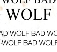 TARDIS Door Bad Wolf Sign Sticker