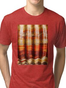 Aussie Corrugated Galvanised Iron Abstract #3 Tri-blend T-Shirt