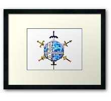 Knights of Super Smash Bros. [Blue] Framed Print