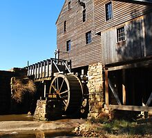 Yates Grist Mill Reflections by Bob Sample
