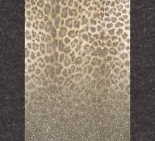 Shimmer (Golden Leopard Glitter Abstract) Zipped Hoodie