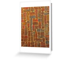 Brown and Gold Greeting Card