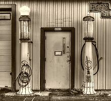 Antique Gas Pumps by Roger Passman