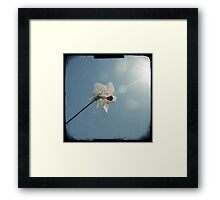 Windmill in a blue sky Framed Print