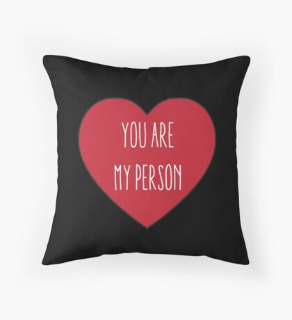 You are My Person   Love Couple   Friendship Red Heart Print  Throw Pillow