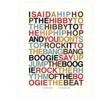 Rapper's Delight - Sugarhill Gang Art Print