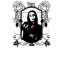 Morticia's Flowers Photographic Print