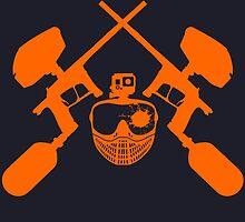 Paintball Emblem (orange) by Paintballer