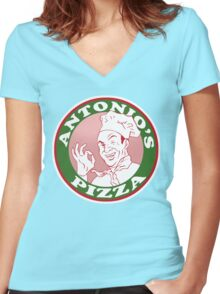 Antonio's Pizza Women's Fitted V-Neck T-Shirt