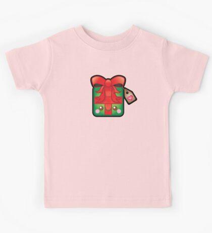 Cute Kawaii Christmas Present Kids Tee