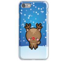 Cute Kawaii Rudolph The Red Nosed Reindeer iPhone Case/Skin
