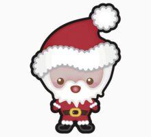Cute Kawaii Father Christmas / Santa Claus Kids Tee