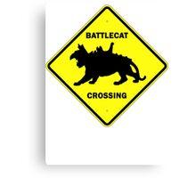 Battlecat Crossing Road Sign Canvas Print