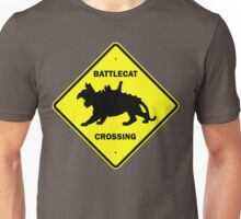Battlecat Crossing Road Sign Unisex T-Shirt