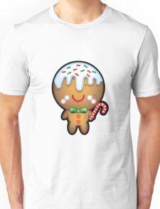 Cute Kawaii Gingerbread Man Unisex T-Shirt