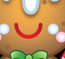 Cute Kawaii Gingerbread Man Sticker