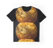 music notes moon Graphic T-Shirt