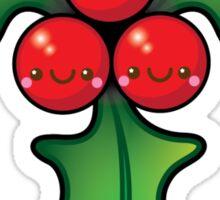 Cute Kawaii Christmas Holly Bunch Sticker