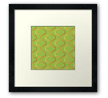 Mughal on acid green lattice Pattern Framed Print