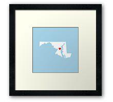 Maryland Love Framed Print