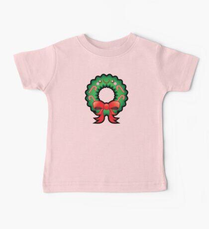 Cute Kawaii Christmas Wreath Baby Tee