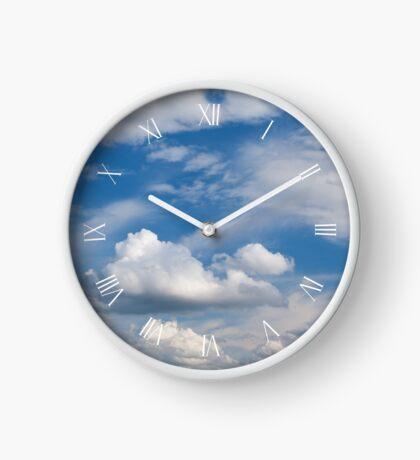 Sunny cirrus and cumulus skies Clock