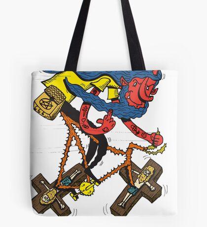 Satan rides  fixie! Tote Bag