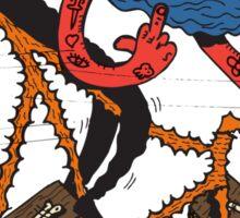 Satan rides  fixie! Sticker