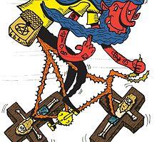 Satan rides  fixie! by lafadibra