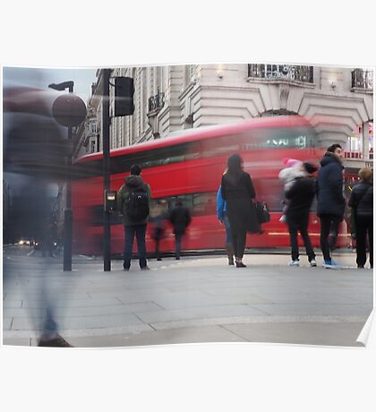 red busy street london Poster