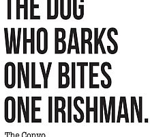 The Convo Merch - The dog who barks by erospsyche
