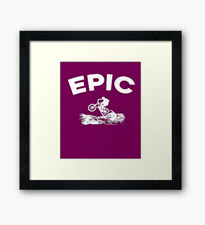 Epic Mountain Biking  Framed Print