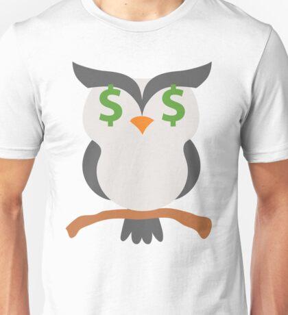 Night Owl Emoji Money Face Unisex T-Shirt