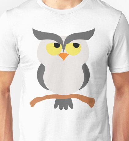 Night Owl Emoji Think Hard and Hmm Face Unisex T-Shirt