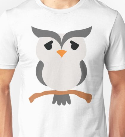 Night Owl Emoji Pretty Please Look Unisex T-Shirt
