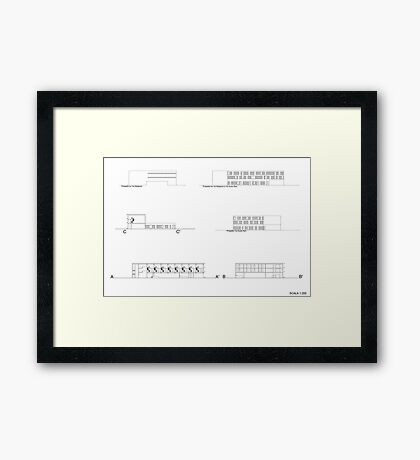 facades and sections Framed Print