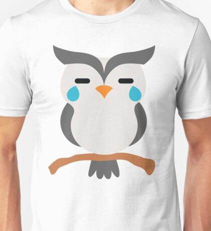 Night Owl Emoji Teary Eyes and Sad Look Unisex T-Shirt