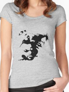 Ink stain Crazy Women's Fitted Scoop T-Shirt
