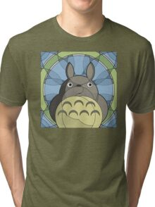 Stained-glass Forest Spirit Tri-blend T-Shirt