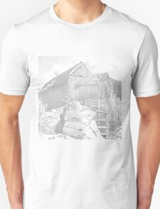 Mill Gray - Pencil Black and White T-Shirt