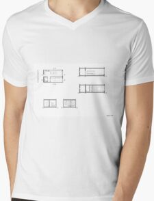 house details Mens V-Neck T-Shirt