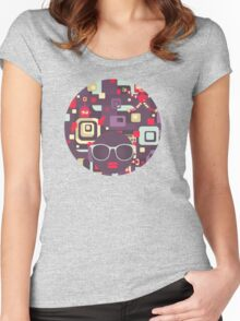 Geometric robots Women's Fitted Scoop T-Shirt