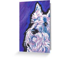 White Scottish Terrier Bright colorful pop dog art Greeting Card