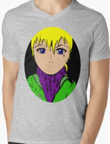 Anime Mens V-Neck T-Shirt