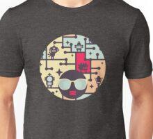 Robotos on the tree. Unisex T-Shirt