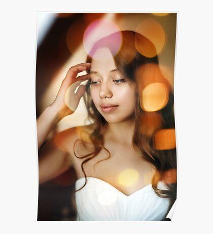 Portrait of Young Gentle Bride Poster