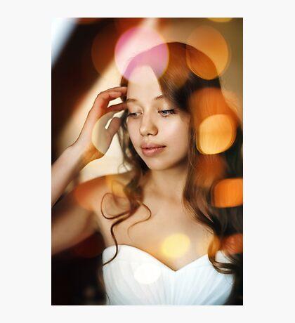 Portrait of Young Gentle Bride Photographic Print